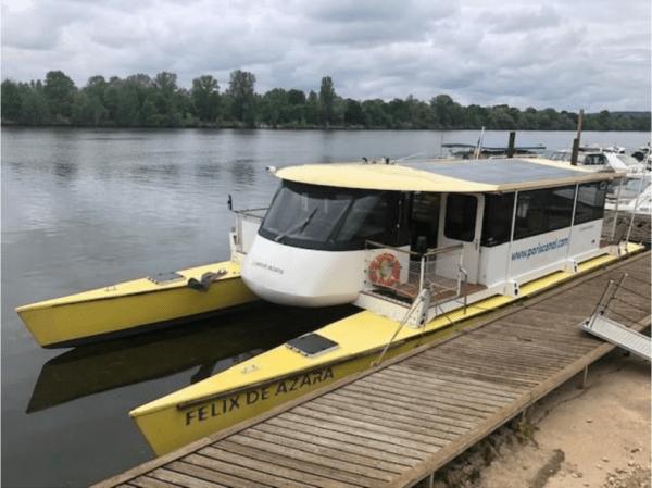 Avant de rejoindre Rouen pour l'été 2019, la navette à énergie électro-solaire va connaître un nettoyage et un relooking.